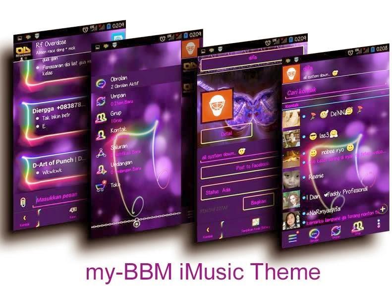 Tampilan BBM Mod My-BBM v2.7.0.23 (iMusic Theme)