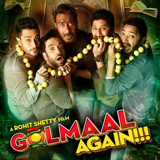 Golmaal Title Track from Golmaal Again (2017): bringing title song lyrics from the upcoming movie Golmaal 4 in the voice of Brijesh Shandilya & Aditi Singh Sharma and composed by Thaman S while lyricsted by Kumaar. The song is piturised on Ajay Devgn, Parineeti Chopra, Arshad Warsi, Tusshar Kapoor, Shreyas Talpade, Kunal Kemmu and Tabu.  Song Details  Song Title: Golmaal Title Song Singers: Brijesh Shandilya & Aditi Singh Sharma  Music: Thaman S Lyrics: Kumaar  Music Label: T-series