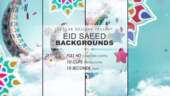 Videohive - Eid Saeed Backgrounds l Eid-al-Fitr Backgrounds l Eid-al-Adha Backgrounds 27717104