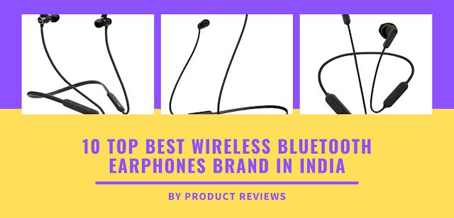 10 top best wireless Bluetooth earphones brand in India buy online on amazon