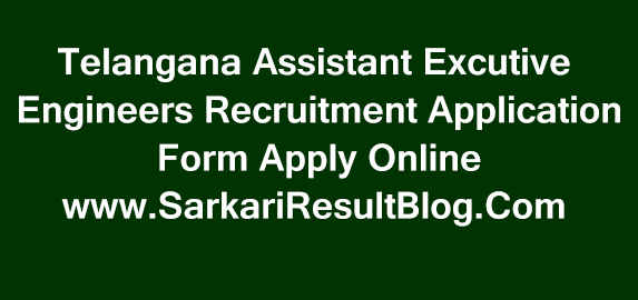 Apply Online For TSPSC Assistant Executive Engineers Posts