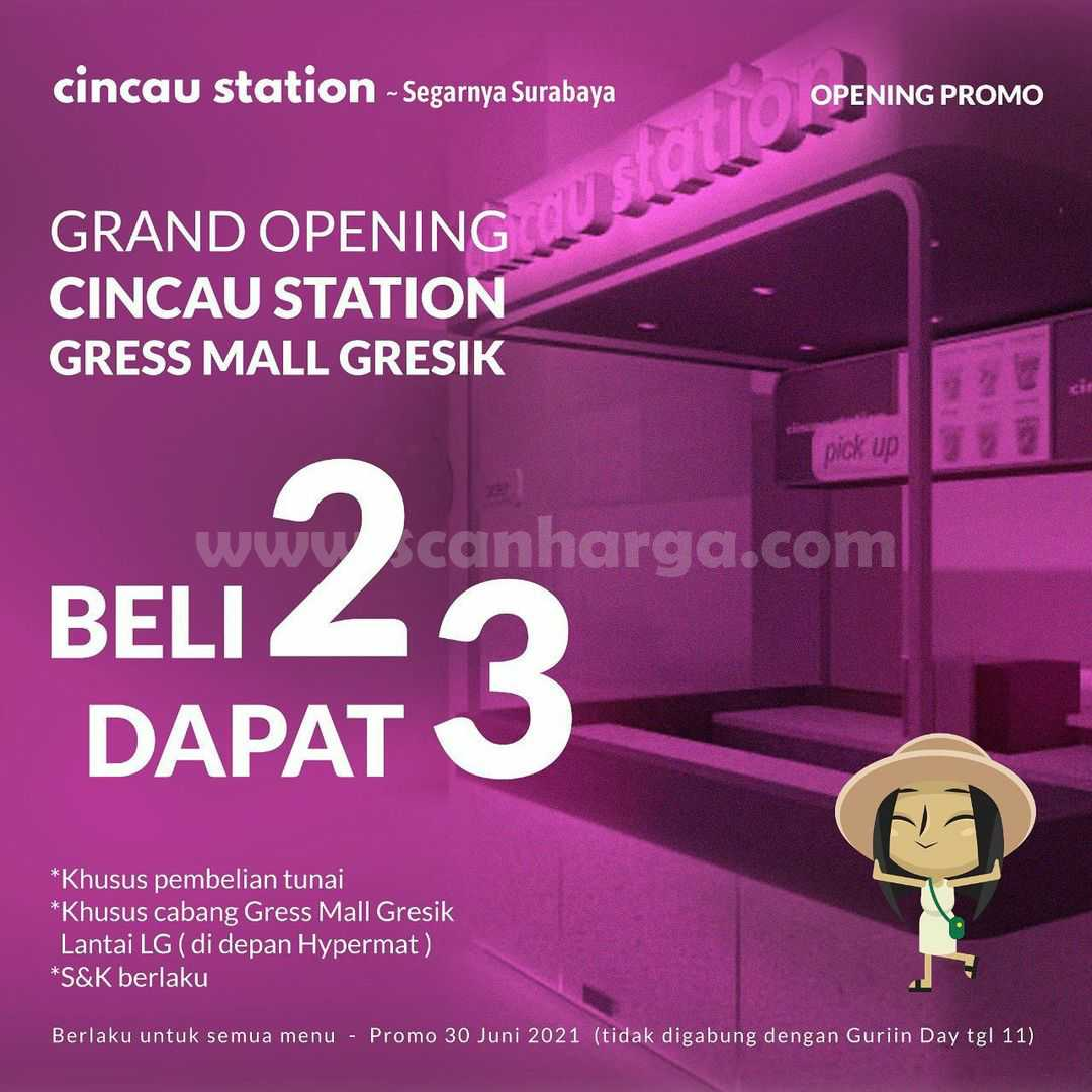 Promo Cincau Station Gress Mall Gresik Grand Opening! Beli 2 Dapat 3