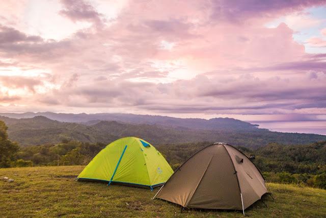 Filipiny, biwakowanie na Filipinach, namiot