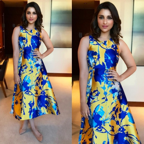 Parineeti Chopra in Vibrant Printed Dress