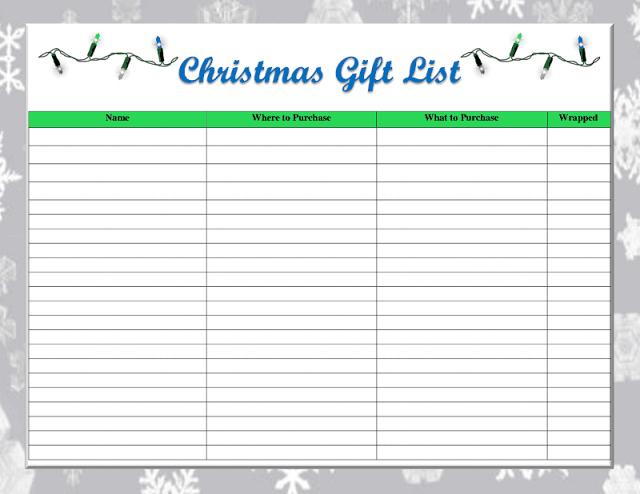 listas, compras, Navidad, plantillas, ideas útiles, fiestas, planings