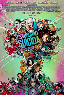 """Poster do filme """"Esquadrão Suicida"""""""