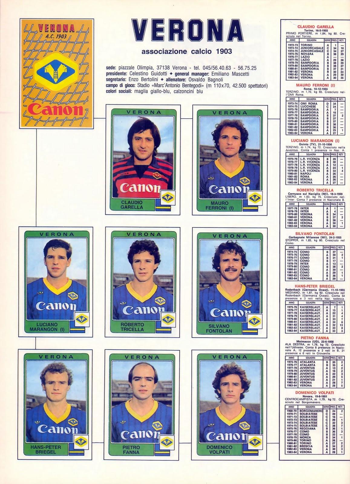 Pes Miti Del Calcio View Topic Hellas Verona 1982 1986
