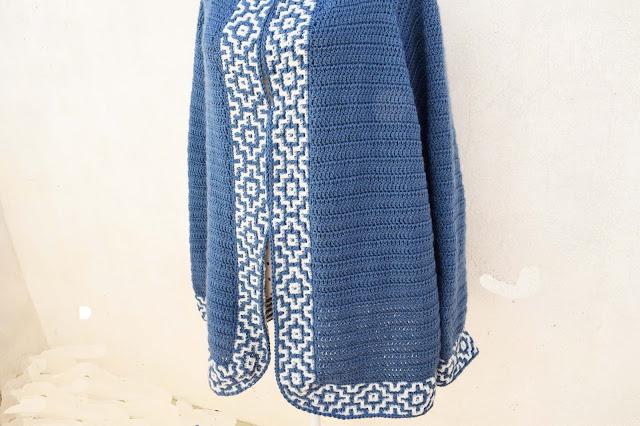 5 - Crochet Imagen Chaqueta azul a crochet y ganchillo por Majovel Crochet