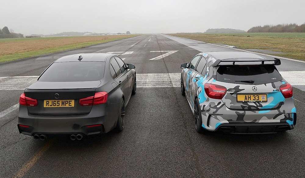 BMW M3 ve Mersedes AMG A45 Drag Yarışı İzle