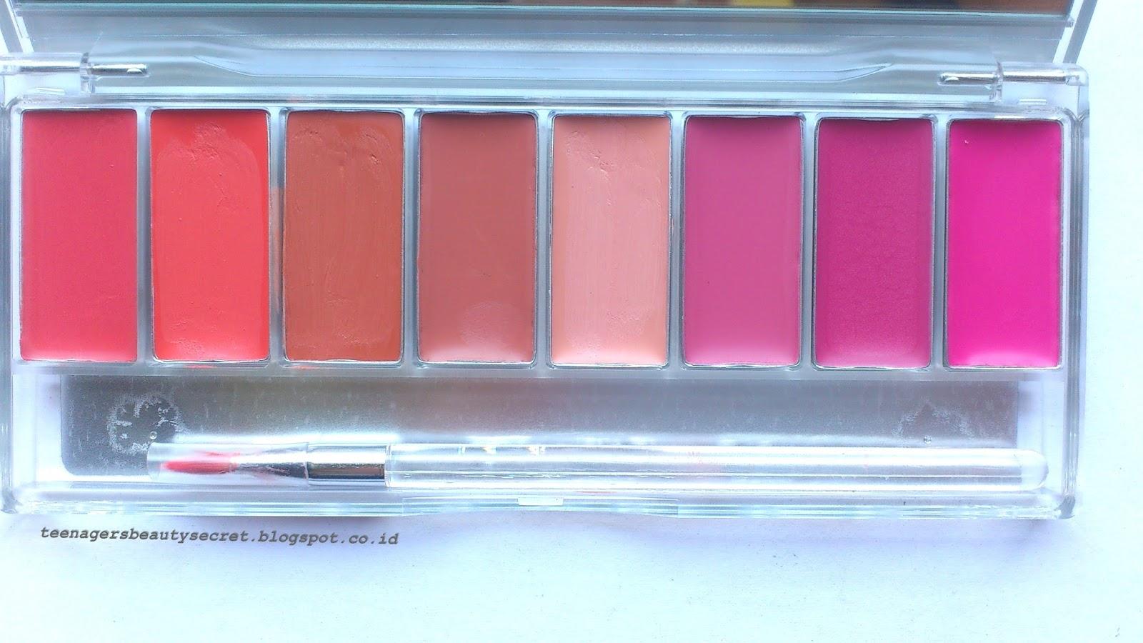 Review Wardah Lipstick Palette Pinky Peach