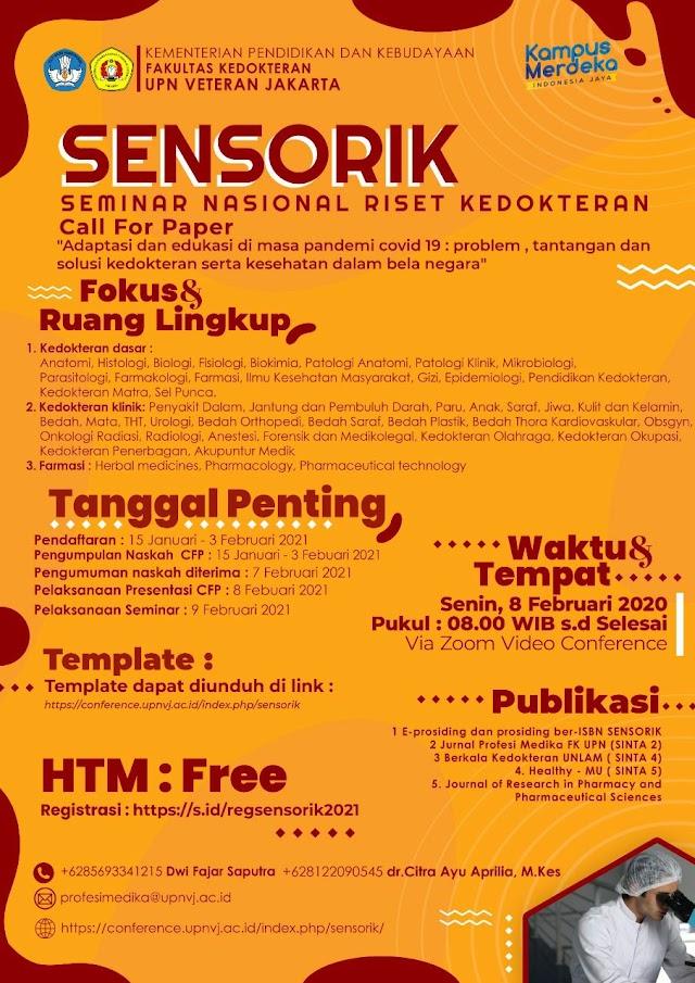 """Free Seminar Nasional """"Riset Kedokteran"""" (Call for Paper)"""