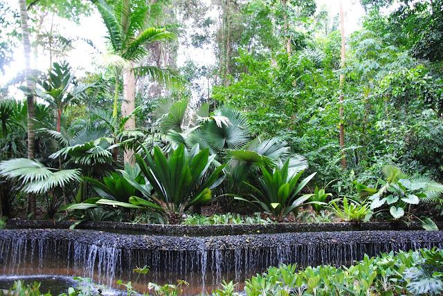 Fontanna w parku w Singapurze