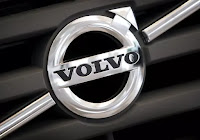 The logo of Volvo is seen on the front grill of a Volvo truck in a customer showroom at the company's headquarters in Gothenburg, Sweden, September 23, 2008. (photo credit: Reuters/Bob Strong/File Photo) Click to Enlarge.