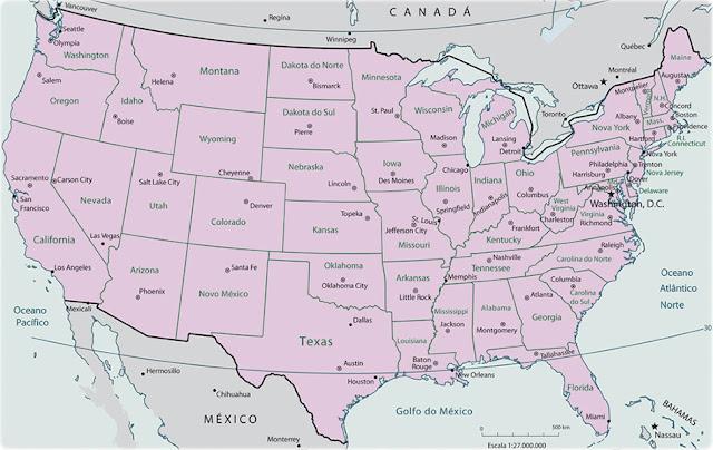 mapa usa estados e capitais MAPA DOS ESTADOS UNIDOS SUAS CIDADES E CAPITAIS ~ imagens para  mapa usa estados e capitais