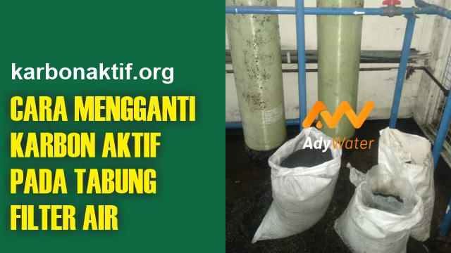 cara mengganti media filter air
