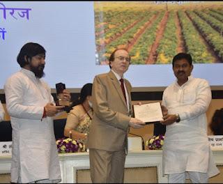हिंदी दिवस पर गृह राज्यमंत्री ने किया सम्मानित     #NayaSaberaNetwork