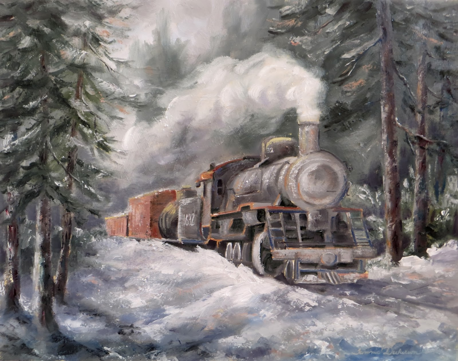 Tammie Dickerson39s Artistic Journey Winter Train Engine