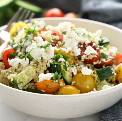 Greek Couscous Salad Lunch Bowls