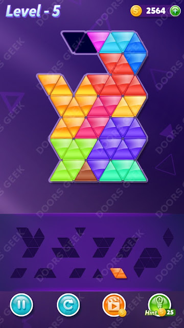 Block! Triangle Puzzle 12 Mania Level 5 Solution, Cheats, Walkthrough for Android, iPhone, iPad and iPod