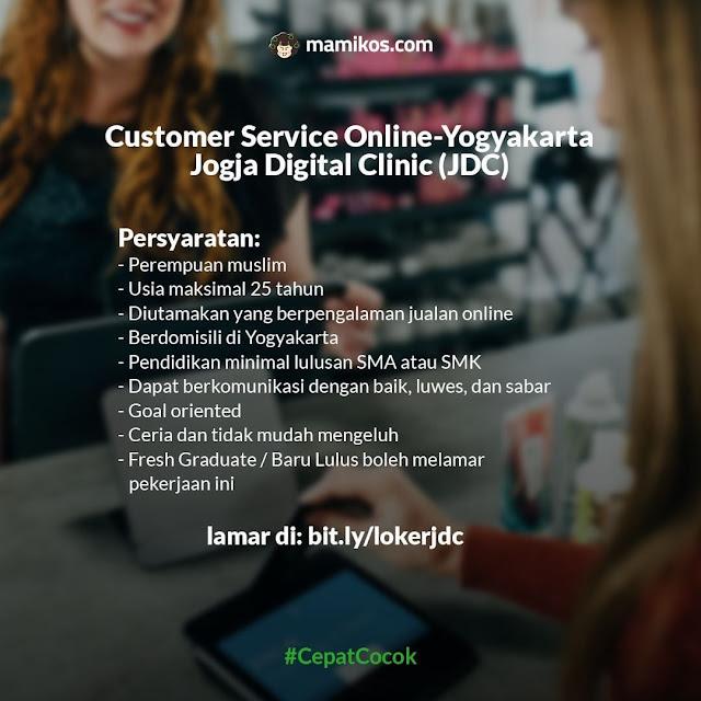 Lowongan Full Time Bulan Agustus Customer Service Online
