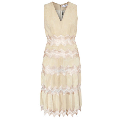 jitrois suede chevron dress