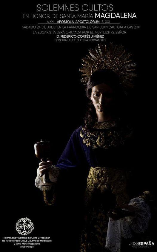 Cartel de Cultos Santa María Magdalena de Velez-Málaga 2021