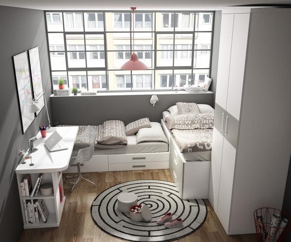 Blog dormitorios juveniles com inspiraci n camas for Camas en l juveniles