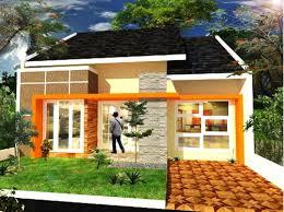 Desain Terbaru Kombinasi Warna Cat Orange Rumah Minimalis Tampilan stylish dan modern 2