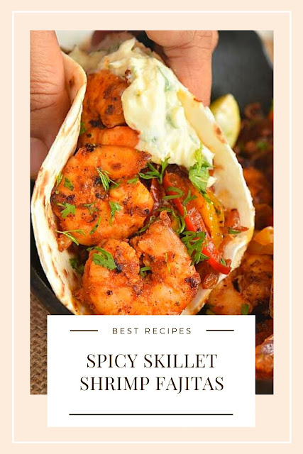 Spicy Skillet Shrimp Fajitas