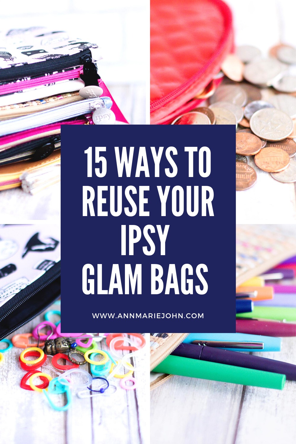15 Ways to Reuse your Ipsy Glam Bags