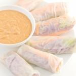 Summer rolls with tahini sauce - danceofstoves.com