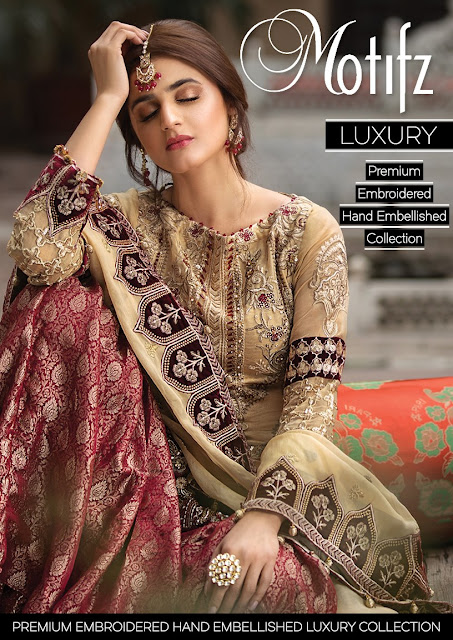 Motifz Spring Summer Rang e Bahar Luxury Embroidered Chiffon Collection 2020 Price Buy Online