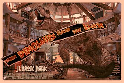 Jurassic Park Screen Print by Juan Carlos Ruiz Burgos x Bottleneck Gallery