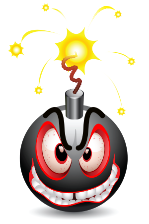 Bomb emoticon
