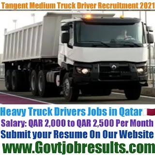 Tangent Medium Truck Driver Recruitment 2021-22