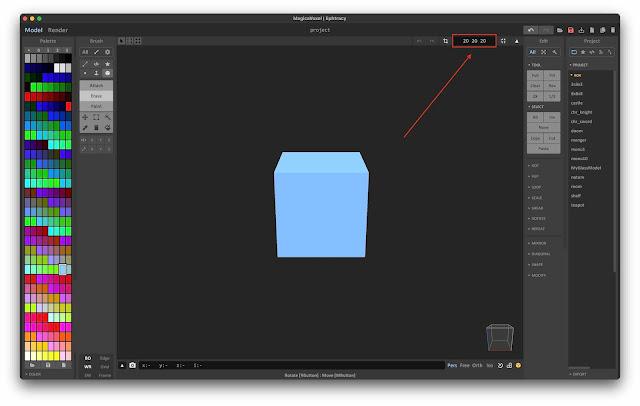 Adjust Model Size in MagicaVoxel