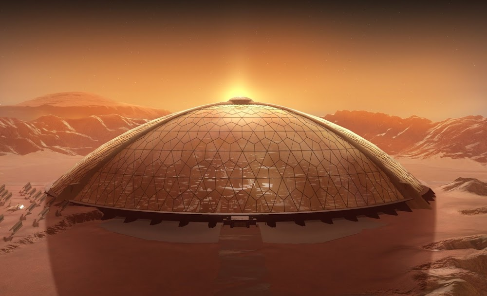 Dome City on Mars
