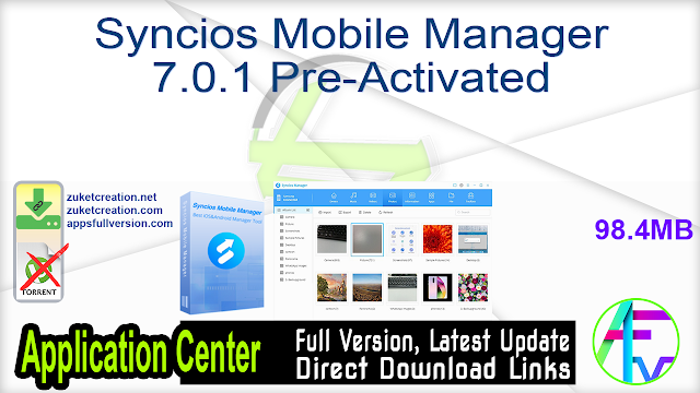 Syncios Mobile Manager 7.0.1 Pre-Activated