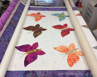 Butterfly Quilt by Ann Stuart Custom quilting by Frances Meredith at Fabadashery Long Arm Quilting