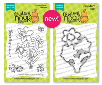 Daffodils Stamp Set and coordinating die set by Newton's Nook Designs