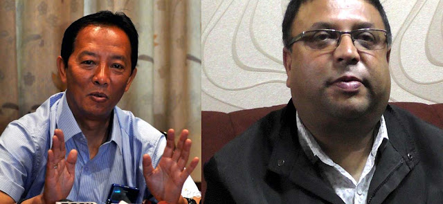 Gorkha Janmukti Morcha Leaders Binay Tmang Roshan Giri
