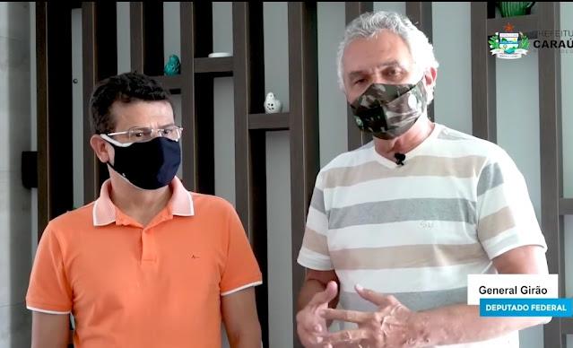Deputado General Girão presta contas de Emendas enviadas ao Município de Caraúbas