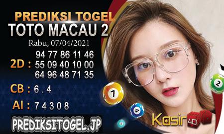 Prediksi Kasir4D Togel Macau Rabu 07 April 2021