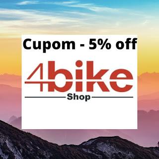 Cupom de desconto 4bike shop - 5% em todos os produtos 4bike shop !