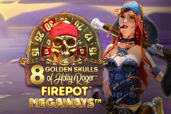 Main Gratis Slot Demo 8 Golden Skulls of Holly Roger Megaways Microgaming