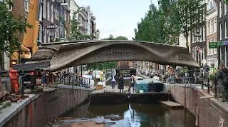 World first 3D printed steel bridge opens in Amsterdam