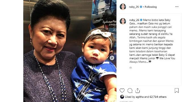 Baby Gaya Anak Ibas Memanggil-Manggil Ani Yudhoyono