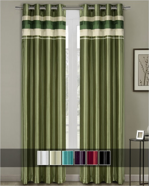 grommet blackout curtains green