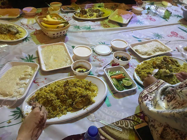 Emirati wedding feast of harees and biriani