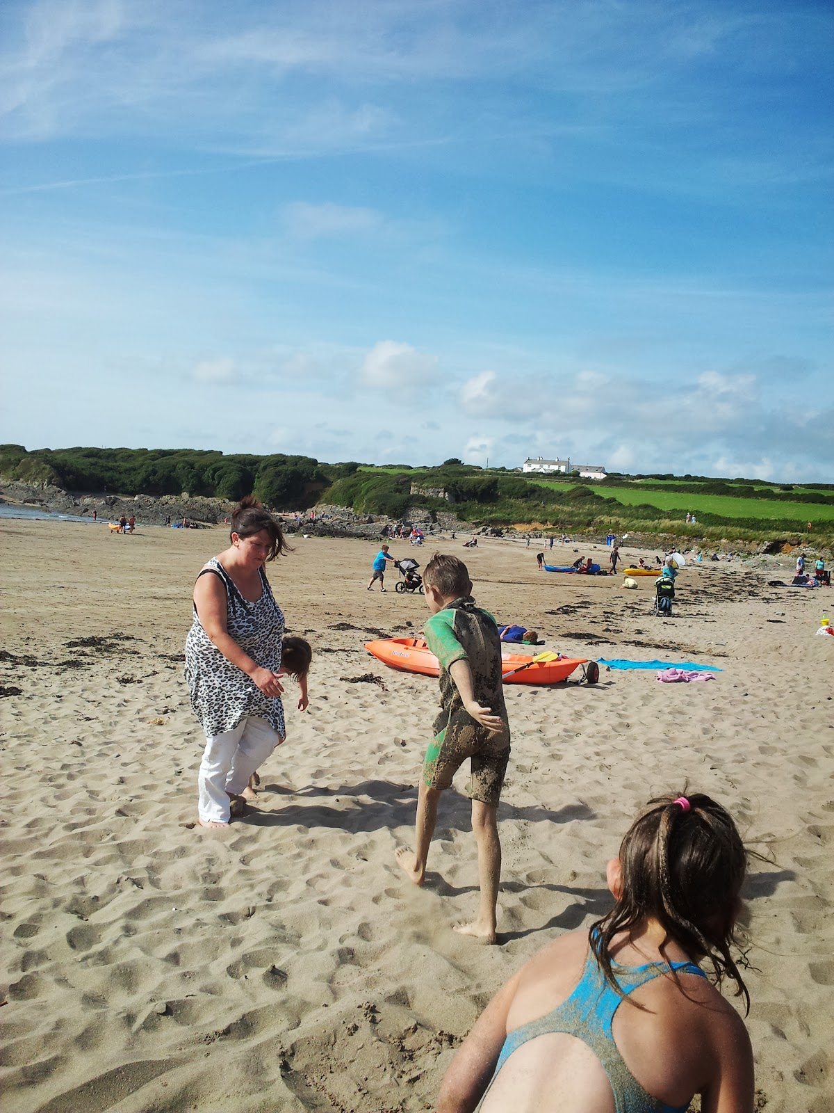 , Soaking up the Sun at West Angle Beach #Pembrokeshire #Wales #CountryKids